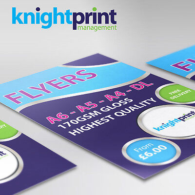 Flyers / Leaflets / Menu's - Printed 170gsm Gloss - A4, A5, A6 , DL  Full Colour