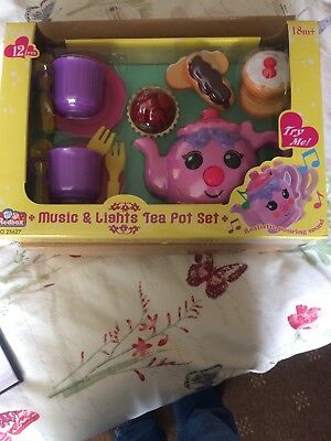 Music & Lights Tea Pot Set, Bnib, 18 Mths Plus