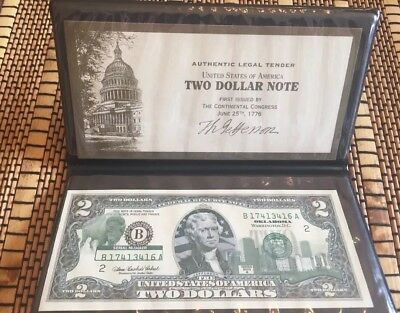 Oklahoma $2 Two Dollar Bill Colorized State Landmark Uncirculated 2003-A