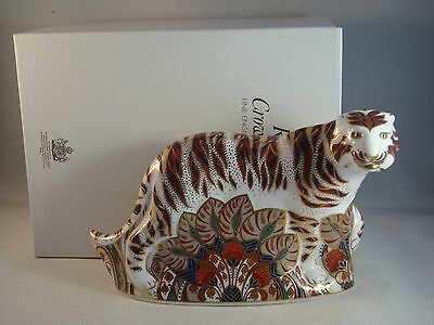 Royal Crown Derby Bengal Tiger Paperweight - Boxed