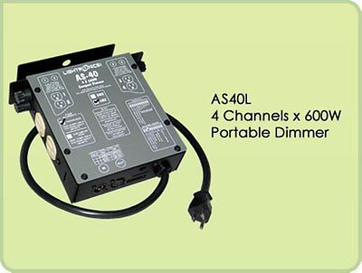 Lightronics AS40L 4 Channel LMX/MPX Dimmer, NEW!