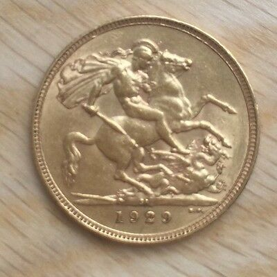 1929 Gold FULL Sovereign George V SOUTH AFRICAN mint