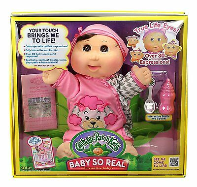 Cabbage Patch Kids Baby So Real Interactive Doll Elaine Bella 30 Expressions