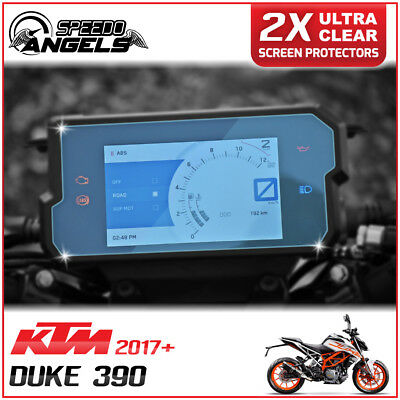 2x KTM DUKE 390 2017> Instrument Cluster/ Dashboard / Speedo Screen Protector UC