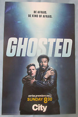 Ghosted TV Show Promo Poster Fan Expo Comic Con 2017 Craig Robinson Adam Scott