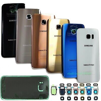 Samsung Galaxy S7/S7 Edge Replacement Back Glass Rear Cover w Camera Lens Parts