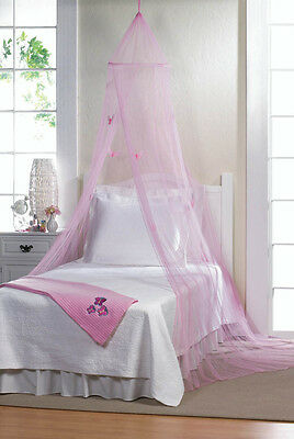 Bed Canopy Pink Princess Butterfly's Kids or Adults Bedroom Fun New