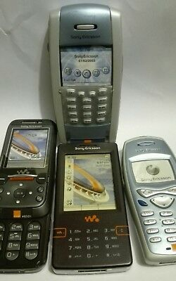 Sony Ericsson 4 DUMMY bundle TOY DISPLAY MOBILE PHONEs P800, T200, W950i, W850i