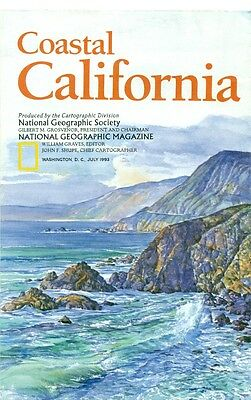 National Geographic Map Insert Lot-United State Of America-Usa-4 Different Maps