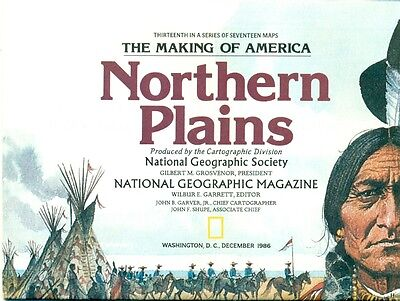 National Geographic Map Insert Lot - The Making Of America - 9 Different Maps