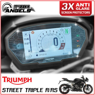 3x TRIUMPH STREET TRIPLE R / RS Instrument Cluster/Dashboard/Screen Protector AG