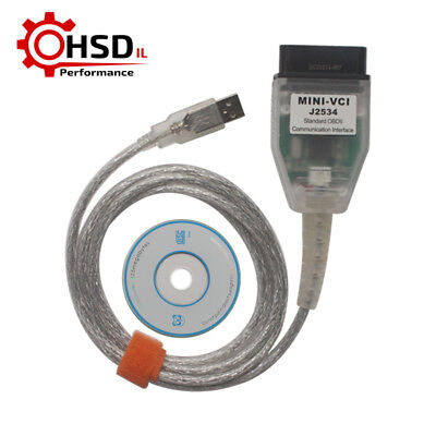 V12.10.019 MINI VCI TOYOTA TIS OEM Cable Support Diagnostic Software W/ ARM CPU