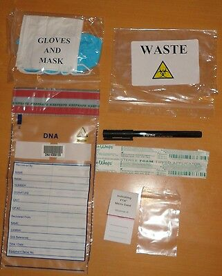 A  Forensic Dna Identifying Kit,-Film Prop ?dead Body - Evidence Collection ?