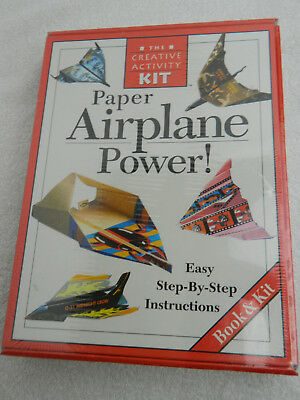 The Creative Activity Kit Paper Airplane Power / Book and Kit / Complete Set
