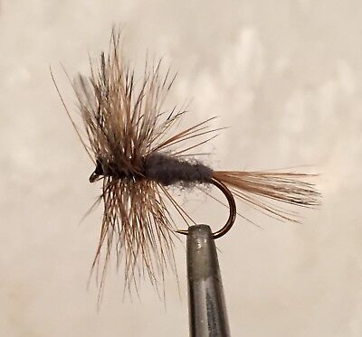 The Adams - Dry Fly Fishing Flies - 6 X Size 18 Flies