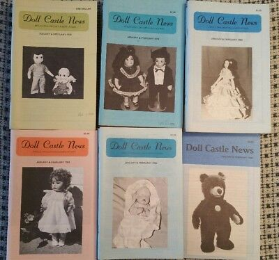 Doll Castle News 33 Issues 1979 To 1984 Dolls, Dollhouses Miniatures Paper Dolls