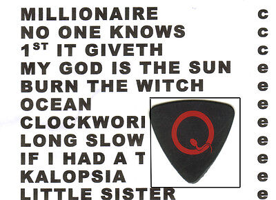 Guitar Pick - Queens Of The Stone Age  - Josh Homme - 2013 Setlist & Used Pick
