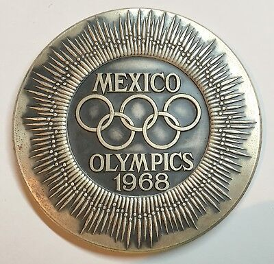 Mexico Olympic Games 1968 Silvered Commemorative Medal