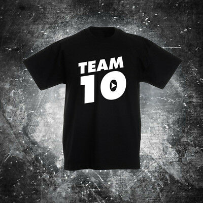 SKU8 Kids TEAM 10 t shirt jake paul logan onliners logang jp x tally youtuber