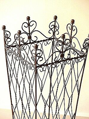French provincial umbrella antique black holder square basket  WROUGHT IRON NEW