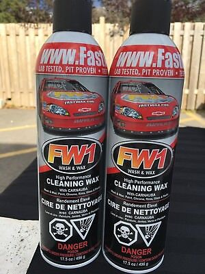 2 Cans Of Fw1 Waterless Detail Cleaner With Carnauba Wax Car Wash