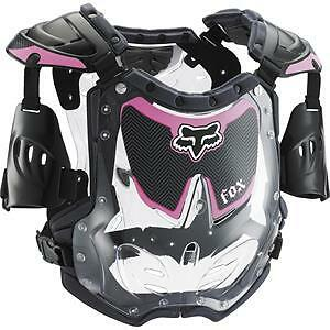 NEW Fox Racing R3 Pink Small Armour Black Pink Kids Girls Youth MX Dirtbike PW