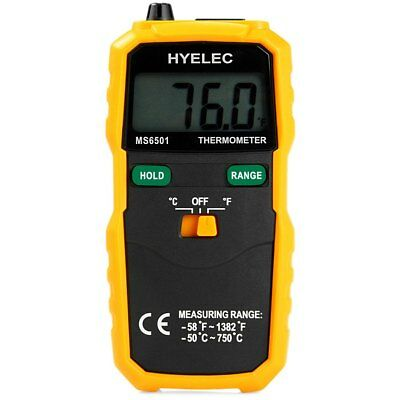 HYELEC K Type Digital Thermometer Temperature Testing Meter+Bag for Industrial