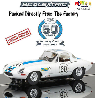 SCALEXTRIC 60th Anniversary 1960s, Jaguar E-type Limited Edition  C3826A