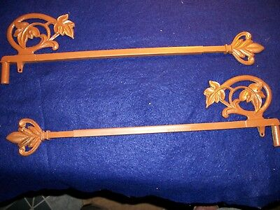 "Vintage-Antique-Old- Cast Iron Swing A Way Drapery -Curtain Rods-17""-24"""