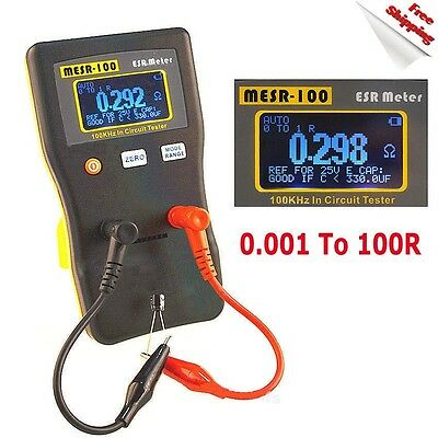 New MESR-100 V2 AutoRanging In Circuit ESR Capacitor Tester Meter 0.001 to 100R