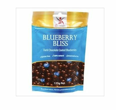 3 x 125g DR SUPERFOODS Dark Chocolate Coasted Blueberry Bliss
