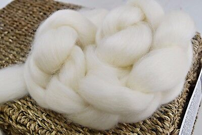 100 grams Wool Tops Roving English Leicester felting spinning undyed