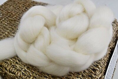 Natural Wool Top Roving English Leicester felting spinning undyed 100g