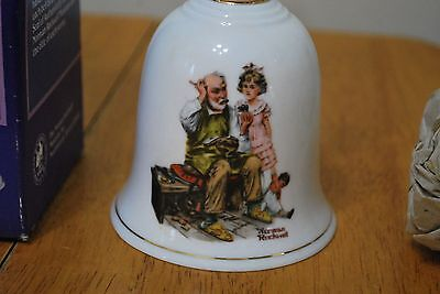 1985 Norman Rockwell Bell 6 1/4 inches The Cobbler - MIB!!