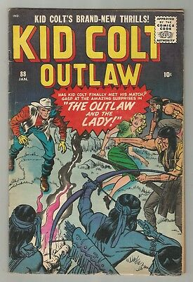 KID COLT OUTLAW 88 & 90 SILVER AGE MARVEL ATLAS COMIC BOOK LOT Williamson a 1960