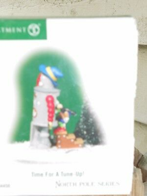 DEPT 56 NORTH POLE VILLAGE Accessory TIME FOR A TUNE UP NIB