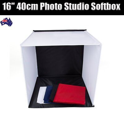 "16"" 40cm Photo Studio Softbox Portable Photography Light Tent Cube Folding Box"