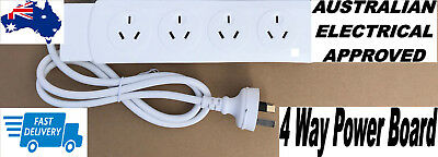 4 Way Outlet Power Strip Board Distribution Point SURGE Protector Powerboard