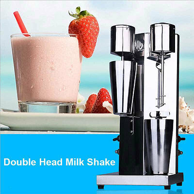COMMERCIL Double Head Milk Shake Mixer Machine Stainless Steel Hot New