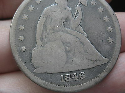 1846-O Seated Liberty Silver Dollar- Good/VG Details, Scarce Date