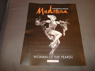 MADONNA 2016 b&w congrats ad for Billboard's Woman of the Year (s), dancing