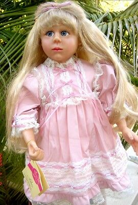 Abbe 20 Inch Resin Doll By Pat Moulton 1999 Collectors Magazine Doll Award Coa