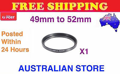 49-52mm Metal Step Up Ring Lens Adapter 49mm to 52mm for Camera Filters