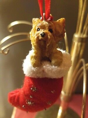 New Yorkshire Terrier Yorkie Santa's Little Pals Dog Christmas Ornament