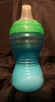 Reborn Toddler doll baby faux NUBY Milk green and blue sippy cup Photo prop