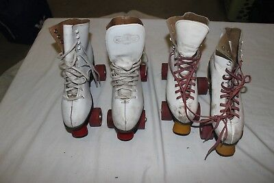 Vintage Dominion and XCaliber Indoor Roller Skates Women size 7 and size 8.