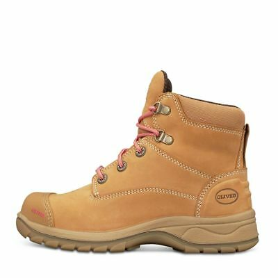 Oliver Women's Zip Sided  Work Boot Ladies Wheat And Black