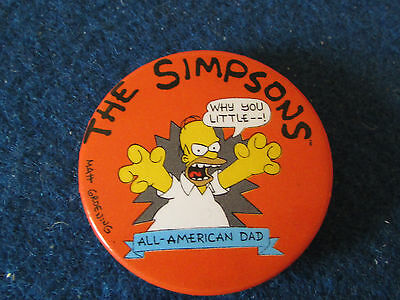 Button Badge - The Simpsons - Homer Simpson - All American Dad