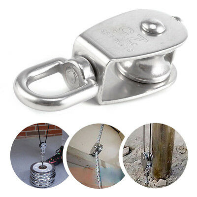 M50 Stainless Steel Heavy Duty Single Wheel Swivel Rigging Lifting Rope Pulley