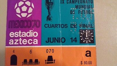 1970 world cup quarter final ticket Mexico